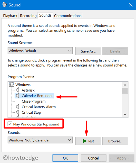 Enable or Disable Windows 10 Startup Sound