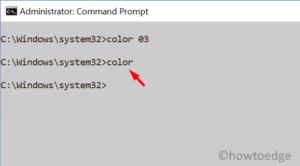 Personalize Command Prompt - Default Color