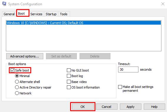 System Restore not working in Windows 10