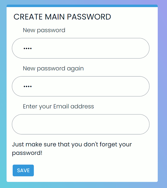 Browser Lock Password Setting