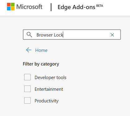 Microsoft Edge Add-Ons