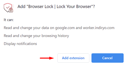 Password Protect Google Chrome - Add Extension