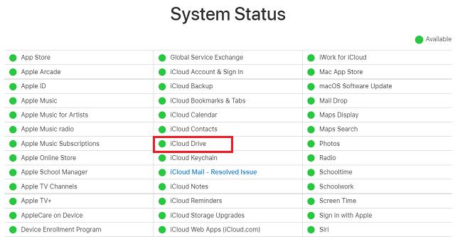iCloud Error 0x8007017b - Check Status