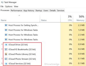iCloud Error 0x8007017b - Restart Processes
