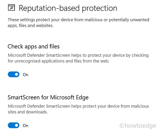 Reputation-based protection