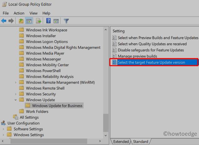 Block Windows 11 Update - Change Policy
