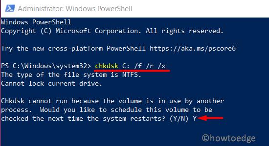 CHKDSK via PowerShell