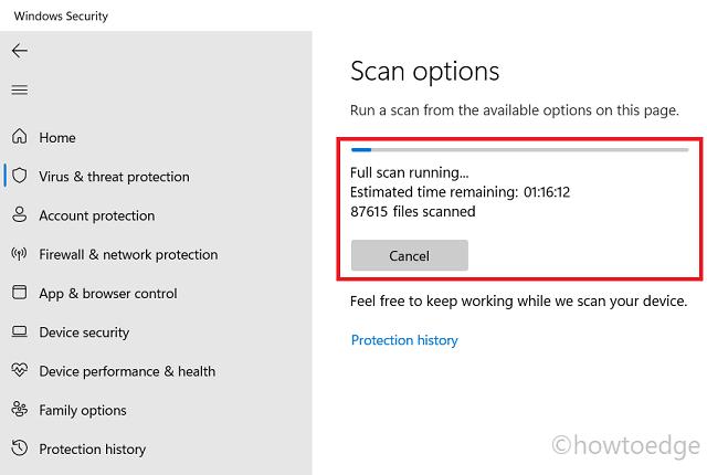 Full Scan Windows Security