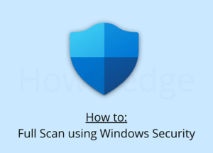 Full Scan using Windows Security