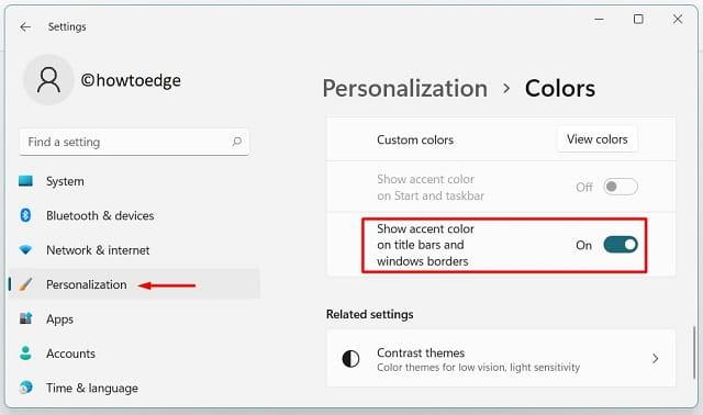 Remove Accent color along windows borders