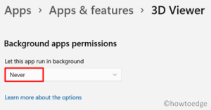 Speed Up Windows 11 - Background apps
