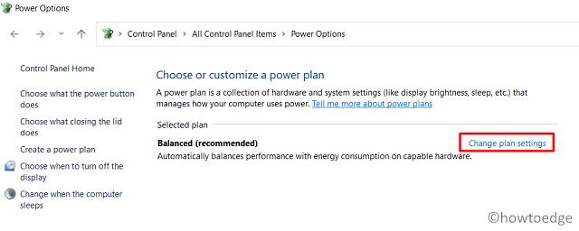 Speed Up Windows 11 - Choose Power Options
