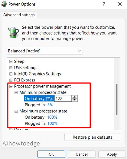 Speed Up Windows 11 - Power Options