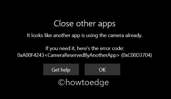 Close all other apps - Error 0xc00d3704
