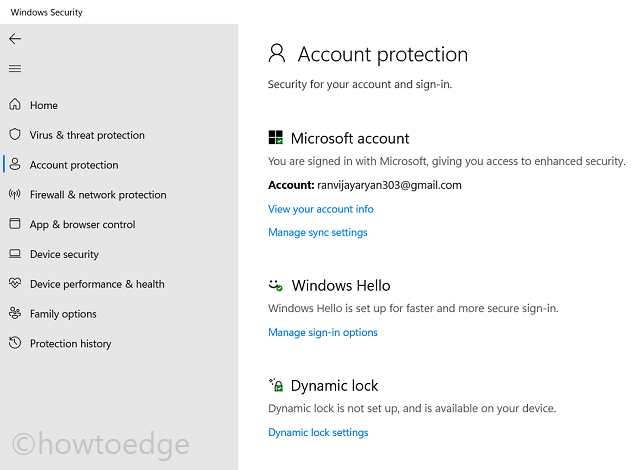Account Protection
