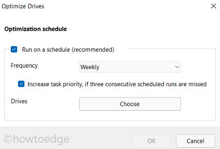 defrag Hard Drive on Windows 10 or 11 - Schedule Optimizations
