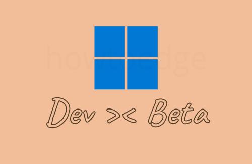 Change Windows 11 Dev to Beta
