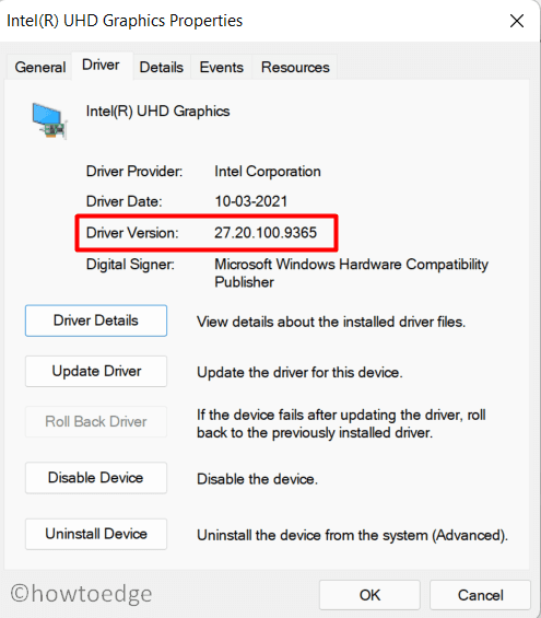 Check Device Driver Current version