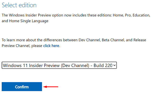 Download Windows 11 ISO File - Hit Confirm