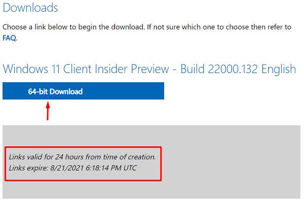 Download Windows 11 ISO File - hit 64-bit download