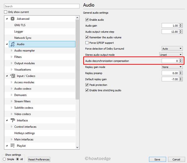 Fix Audio Sync on VLC - Adjust desynchronization compensation