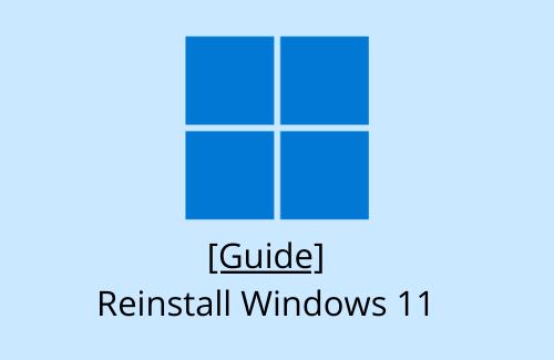 Guide Reinstall Windows 11