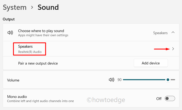 Improve Sound Quality in Windows 11 - Speakers
