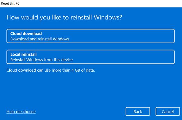 Repair Windows 11 - Reset this PC