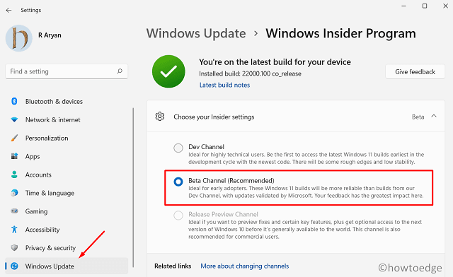 Stop getting Windows 11 Inisider Builds
