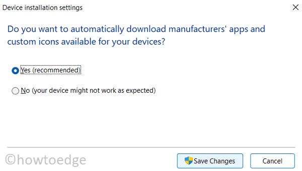 Update Drivers in Windows 11 - Enable Automatic updates