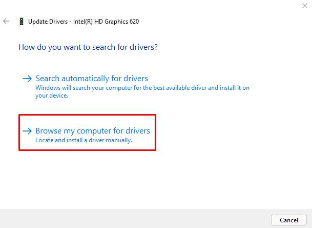 Update driver to fix Green Screen of Death Error in Windows 11