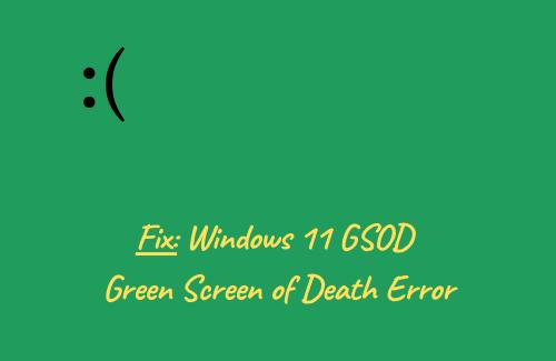 Green Screen of Death Error