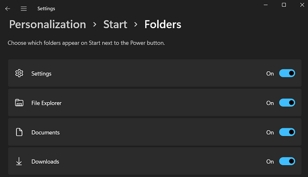add personalized folders or apps - Select Items