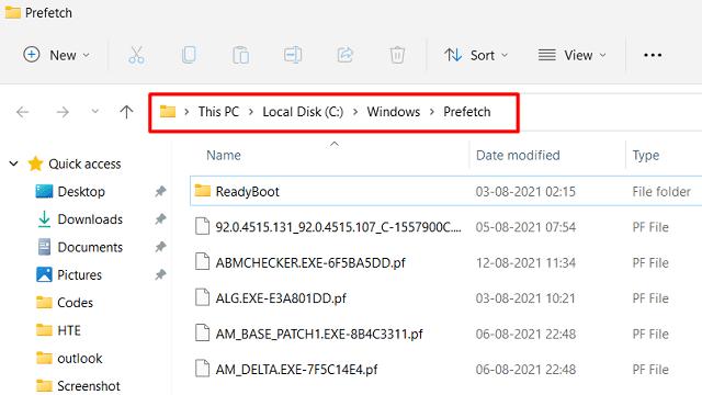 clear Windows 11 Cache - Prefetch folder