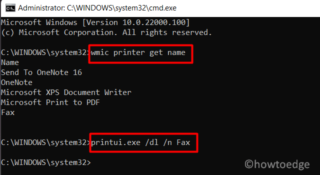 Locate and delete print drivers using CMD