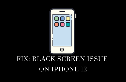 Fix Black Screen issue on iPhone 12