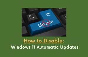 How to Disable Windows 11 Automatic Updates
