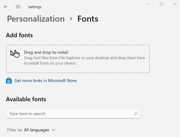 Install Fonts on Windows 11