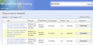 KB5005566 Windows 10 1909