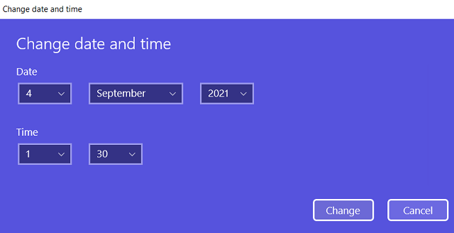 Set Date and Time Windows 11