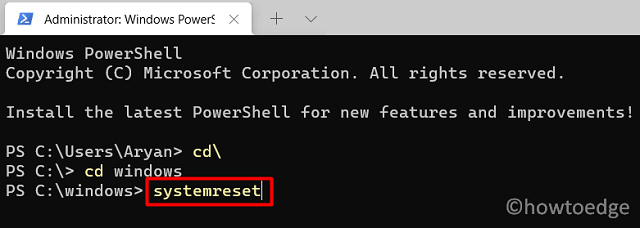 System Reset via PowerShell