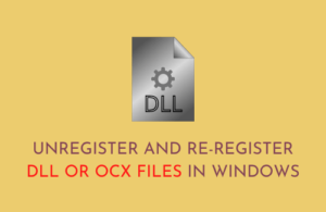 Unregister and Re-register DLL or OCX files in Windows