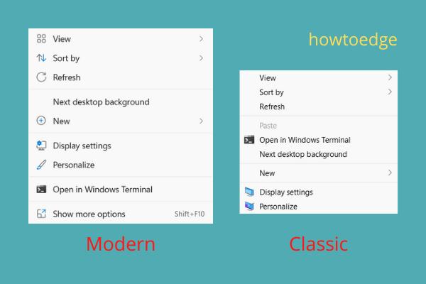 Get back the Classic Context Menu in Windows 11