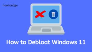 How to Debloat Windows 11